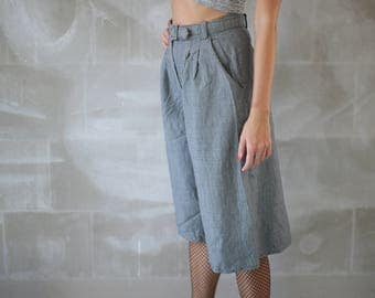 VTG Woman Wide Pants 90s/ Woman Loose  High Waist Trousers/ Vintage Waistband Street Pantalon/ Bohemian Hippie Hipster Grunge Cullotes 90s