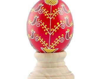 Twelve Birds Real Chicken Eggshell Hand Decorated Ukrainian Easter Egg Pysanky