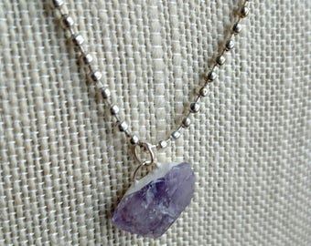 Amethyst Necklace - Purple Necklace