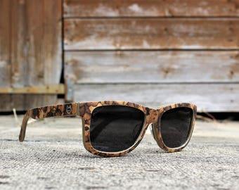 Paul Ven Fox Cork Wood wayfarer wooden sunglasses. Polarized Wood sunglasses, men women wooden sunglasses FREE EU shipping. Handmade