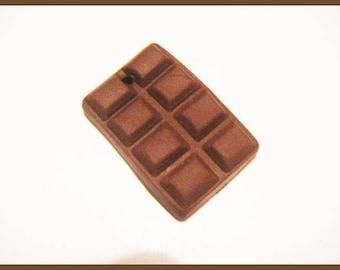 polymer clay chocolate charm bead