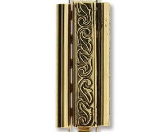 Elegant Elements Beadslide Clasp Loom Bracelet End Jewelry Supplies Bead Bohemian Findings Closure Swirl Design 10MM X 29MM
