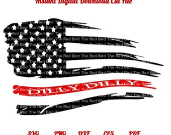 Dilly Dilly Red Line Fire Fighter, Ems, Paramedic Medic Flag funny printable Digital download cut file  SVG, DXF, PNG, EpS, PdF