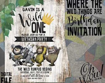 Where the Wild Things Are: Theme Invitation