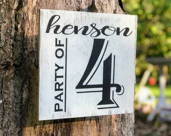 Custom Wood Family Sign , Rustic Wood Family Sign , Family Name Wood Sign , Wood Party Of Signs