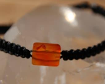 shamballa bracelet with carnelian bead