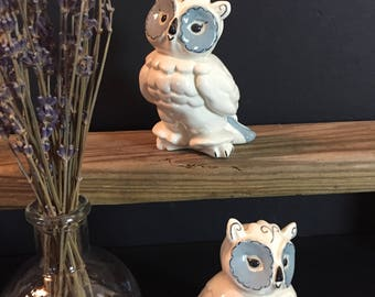 Kay Finch, 1940s, Toots the Owl Figurines, California Pottery