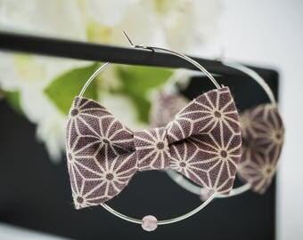 KAWAII purple earrings