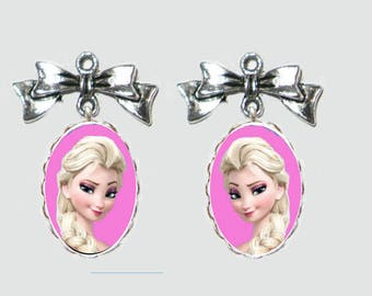 2 pendants frozen 13x18mm glass Cabochon