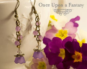 Earrings purple flowers - spring 2015 Once Upon a Fantasy
