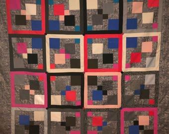 memory quilt, clothes quilt, t-shirt quilt, t shirt quilt, tee shirt quilt, custom quilt, baby clothes quilt