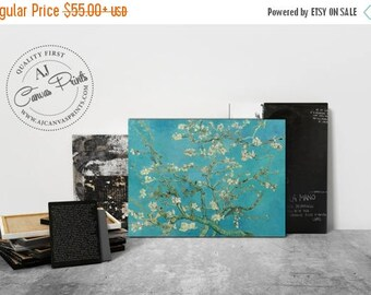 Summer SALE Blossom almond tree by Vincent van Gogh, Canvas oil painting, Impressionism wall art, Housewarming gift