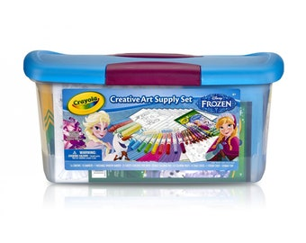 Crayola Disney Frozen Creativity Tub Art Supplies Kit, Over 80 Pieces
