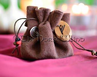 Mojo Bag Hoodoo Bag Talisman, Runes Prosperity Amulet, Magic Spell Bag, Good Luck Amulet, Good Luck Talisman