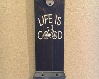 Life Is Good Bottle Cap Catcher