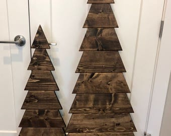 wood tree tall wood christmas tree rustic wood tree wooden tree - Wooden Christmas Tree
