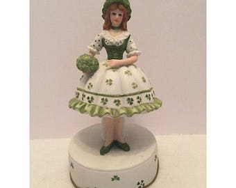 1994 Lefton Irish Girl Musical Figurine