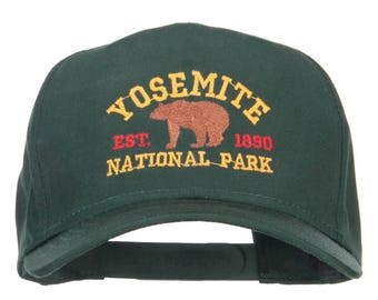 Yosemite National Park Gold Embroidered Cap