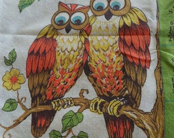 1985 Calendar Towel, Cotton Towel, Owls Birds, Trees Flowers, Your Birthday Year, Vintage Calendar, Owl Lovers, Dogwood, Tea Towel, Kitchen