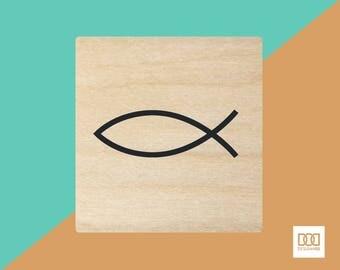 Fish Symbol - 3cm Rubber Stamp (DODRS0103)