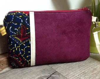 "The Pocket Moon, my little ""Wax"" Plum suede handbag"