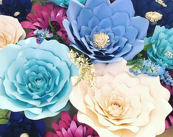 Paper Flower Backdrop, Giant Paper Flowers, Large Paper Flowers, Wedding Flowers, Paper Flower Templates & Tutorials
