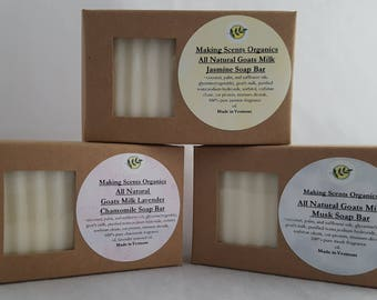 All Natural Goats Milk Extra Moisturizing Soap Bar Made in VT Many Scents