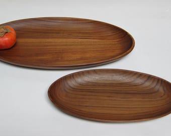 Teak Wood Oval Tray