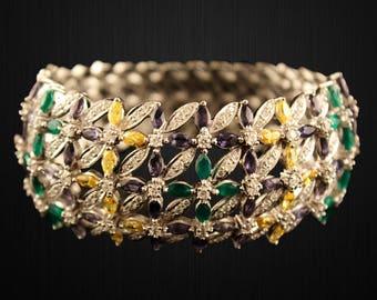 Sterling Silver Colour Bunch Bracelet