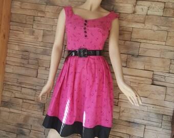 60s style handmade summer dress
