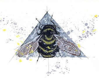 Rusty Patched Bumblebee Screenprint