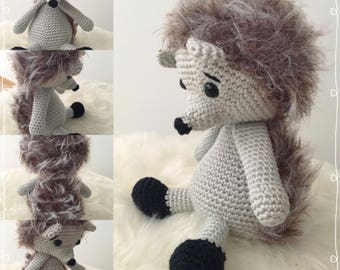 """Theo the Hedgehog inspired """"Alvin the hedgehog"""" pattern from Pepika"""