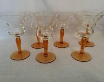 Vintage Sherry Glasses (Set of 6)