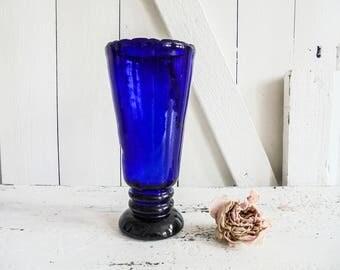 Blue Vase Glass Vintage