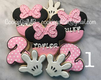 Minnie Mouse Birthday Cookies