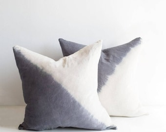 Diagonal Dip Dye Pillow Cover | Various Sizes