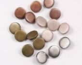 8 boutons 12mm,15mm ou 18mm, métal, argent, cuivre, laiton ou vieux rose, à tige (50143am)
