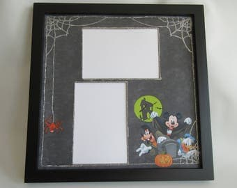 Disney Themed Halloween Picture Frame Mickey's Not So Scary Halloween Party Photo Frame Disney World Disneyland Vacation holds 4x6 pictures