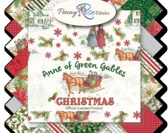 """Anne of Green Gables - Charm Pack - (42) 5"""" Squares - Riley Blake  & Penny Rose Fabrics - C"""