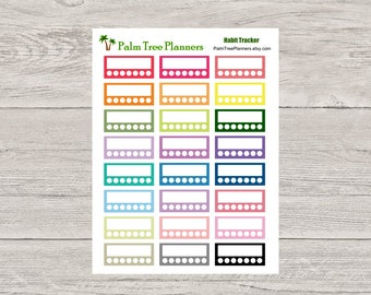 Habit Tracker Stickers for Erin Condren Vertical Planner EC