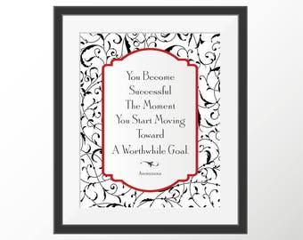 Success - Decorative Quote Art Print