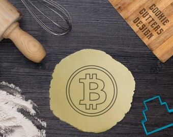 Set Bitcoin cookie cutter stamp