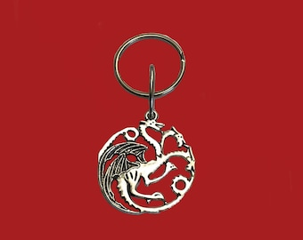3 headed dragon keychain for the Game of thrones fan