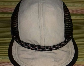 Rare vintage 4 panel cap Lake of The Isles plastic buckle style one size