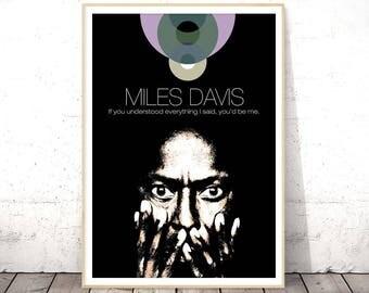 Miles Davis Poster, Music Art Print, Music Poster, Poster Download, Jazz Art Print, Digital Download Art, Jazz Poster, INSTANT DOWNLOAD