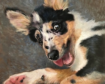 Pet Portraits, Pet Paintings, Christmas Pet Portraits, Pet art for Christmas