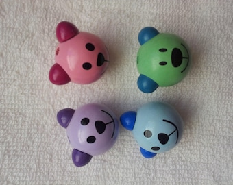 Cubs blue and pink available pacifier beads