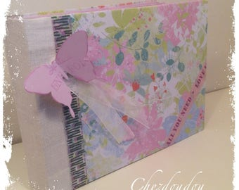 "Guest book or photo album pastel ""all you need is..."""