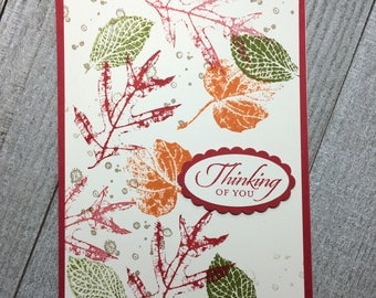 Fall Autumn Thinking Of You Handmade Card