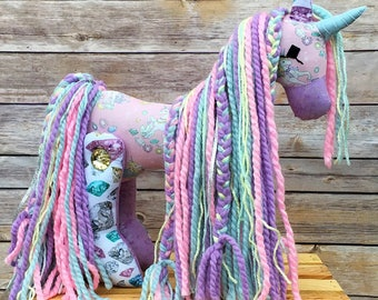 Easter pony easter gift stuffed pony girl gift horse unicorn gift jeweled unicorn sparkle unicorn stuffed unicorn easter gift girl negle Images